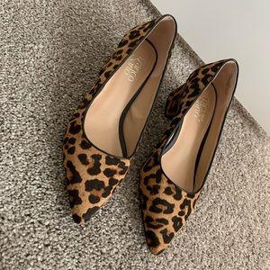 Franco Sarto Leopard Block Heel